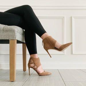 {Nine West} Brown Suede Pointy Toe Heels